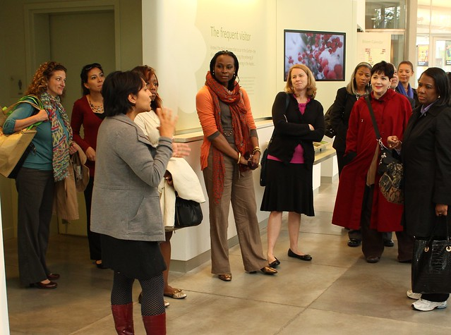 BBG's director of Interpretation, Sonal Bhatt, addresses the group. Photo by Kathryn Littlefield.