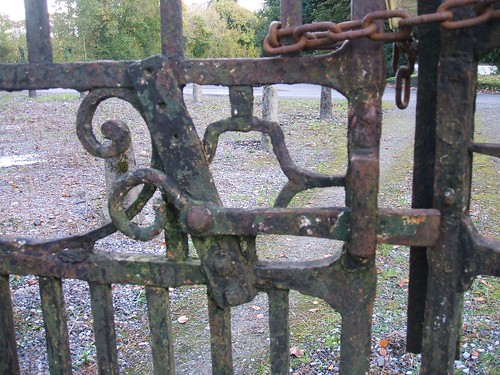 Newpass House, Rathowen, Westmeath - wrought iron work detail (late 18th century)