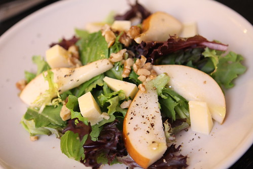 Pear and Walnut Salad with Parrano and Honey