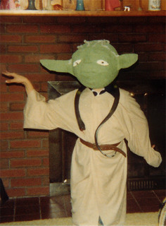 Halloween 1980: My Homemade Yoda Costume