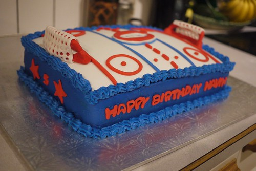 Canadiens Hockey Cake [side view]