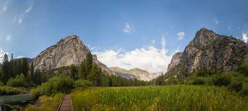 Zumwalt Meadow Panorama, Kings Canyon National Park by flatworldsedge