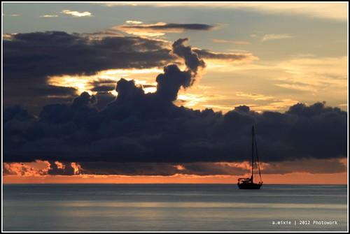 sea sky water sunrise canon landscape ngc papua westpapua slowspeed rajaampat waisai amimixie