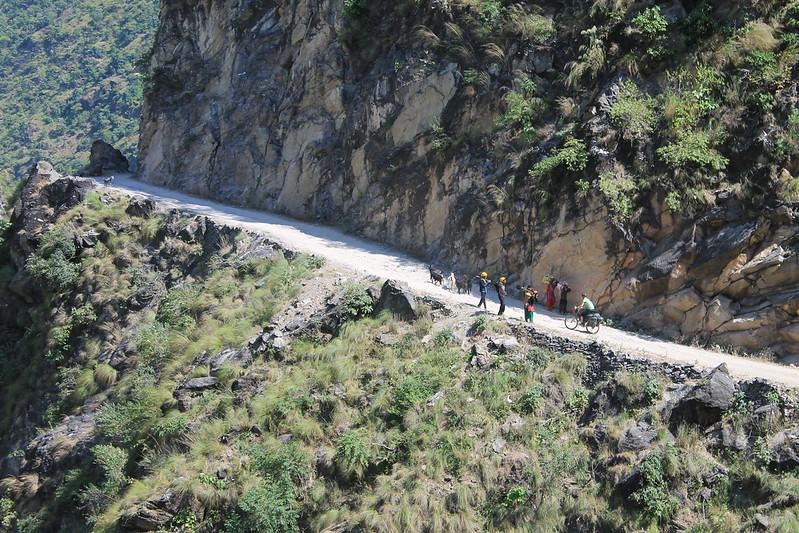 Meeting on the Karnali Highway