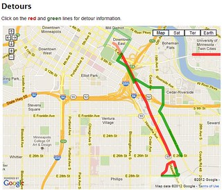 City of Minneapolis Detour Map