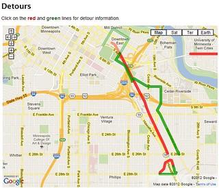 City of Minneapolis Detour Map