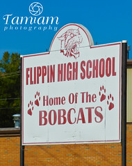 Flippin High School Sign