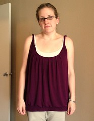 Purple Tank Refashion - Before