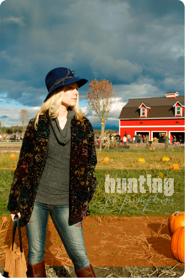 {hunting} for pumpkins