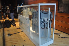 The case features Hoya legends who played under Big Coach.