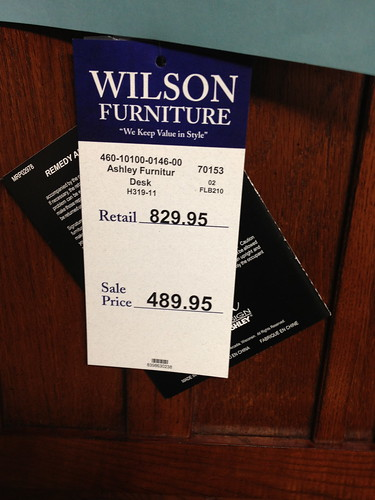 Wilson Furniture Tag