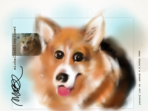 Pav , the Pembrook Welsh Corgi by michelle's blue planet