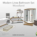 PlayStation Home: Modern Lines Bathroom Set Woodland