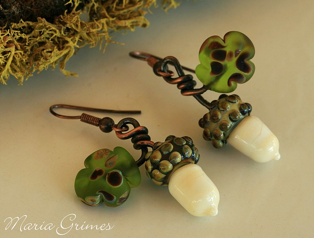 Fall Acorn Earrings