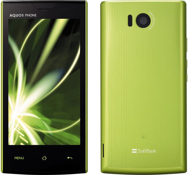 AQUOS PHONE 103SH 実物大の製品画像