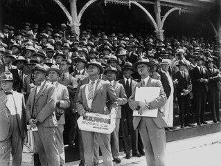 Section of the crowd at Albion Park racetrack, Brisbane, November 1932