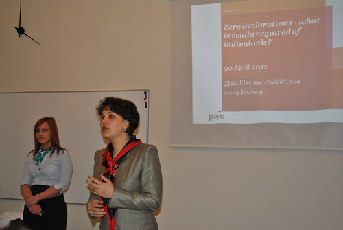 "Seminar on ""Zero Declarations"" at PricewaterhouseCoopers"