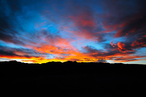 sunset mountains clouds coloradosprings rockymountains
