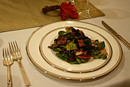Mixed Greens with Candied Creole Bacon