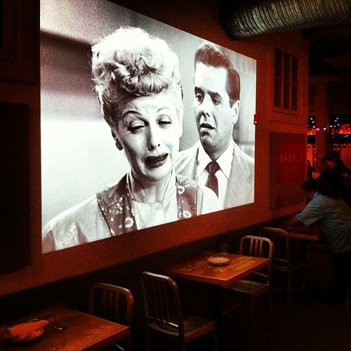 Gotta love a place that plays. I LOVE LUCY the whole time.