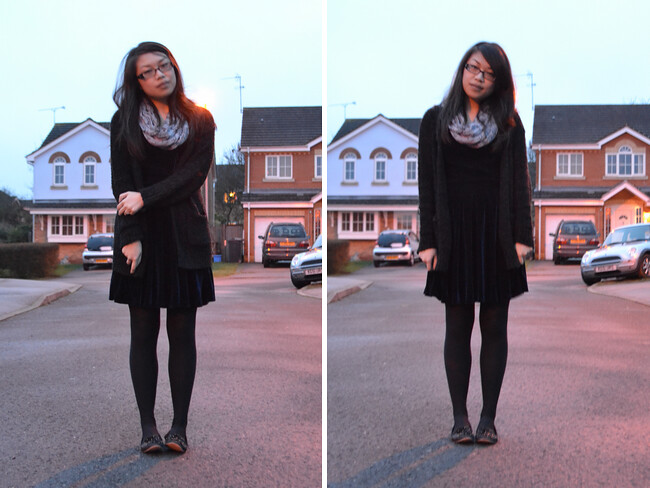 daisybutter - UK Style and Fashion Blog: what i wore, AW12, velvet dress, lavish alice