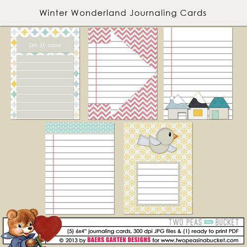 Winter Wonderland Journaling Cards