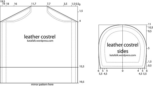 leather costrel - pattern