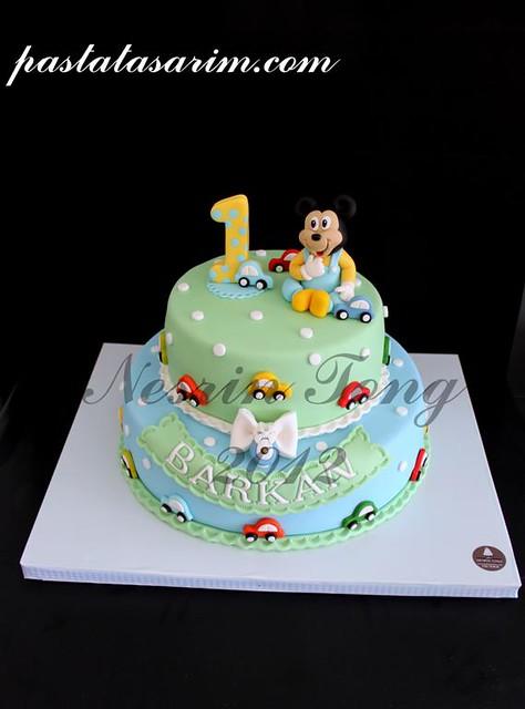baby mickey mouse cake - barkan 1st birthday (Medium)