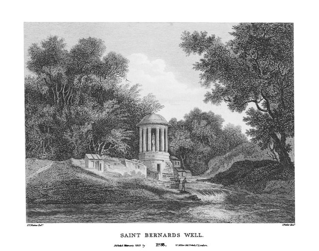 etching: St Bernards Well