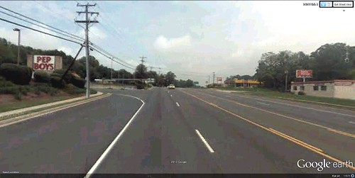 looking north on US Route 1, Woodbridge, VA (via Google Earth)