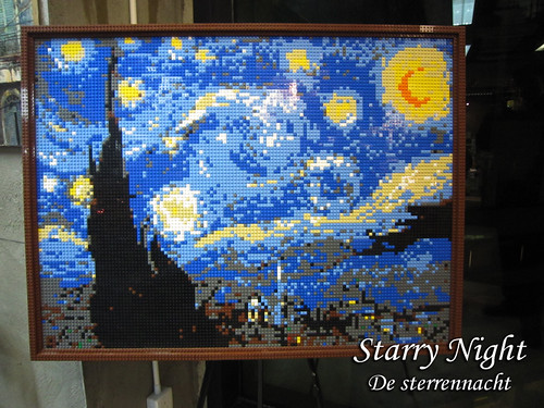 Lego Mosaic - Starry Night 星夜