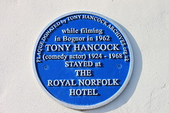Photo of Tony Hancock blue plaque