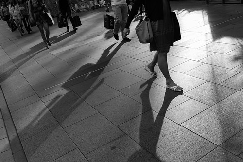 Shadows and Feet. Orchard Road, Singapore