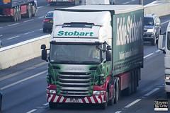 Scania R440 6x2 Tractor - PF11 FRX - Lucy Elizabeth - Green & Red - Eddie Stobart - M1 J10 Luton - Steven Gray - IMG_1012