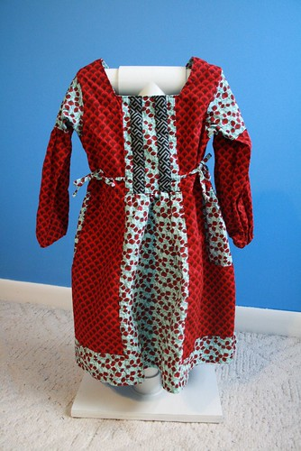 Red poppy dress