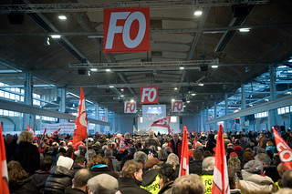 24 janvier 2013 à Paris, FO fait salle comble contre l'austérité