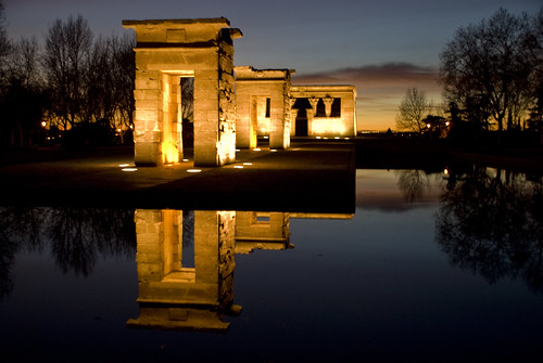 madrid parque españa spain nocturna templo reflejos debod rosales egipcio superlativas cuarteldelamontaña