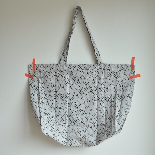 Leather pouch  + fabric tote