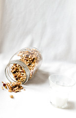 Granola with nuts and dried fruits