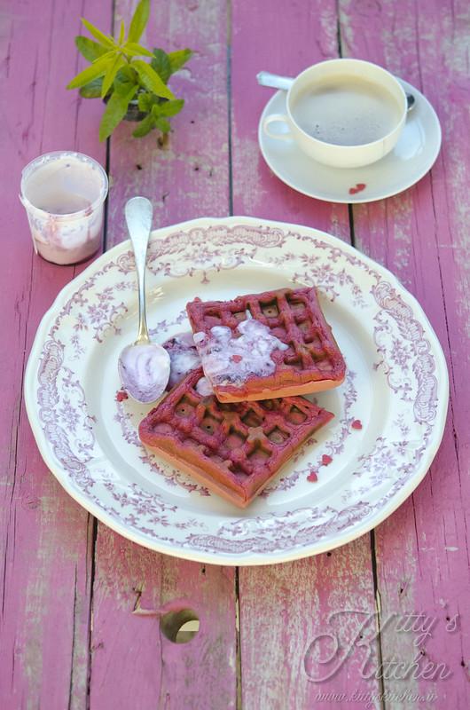 pink light waffle