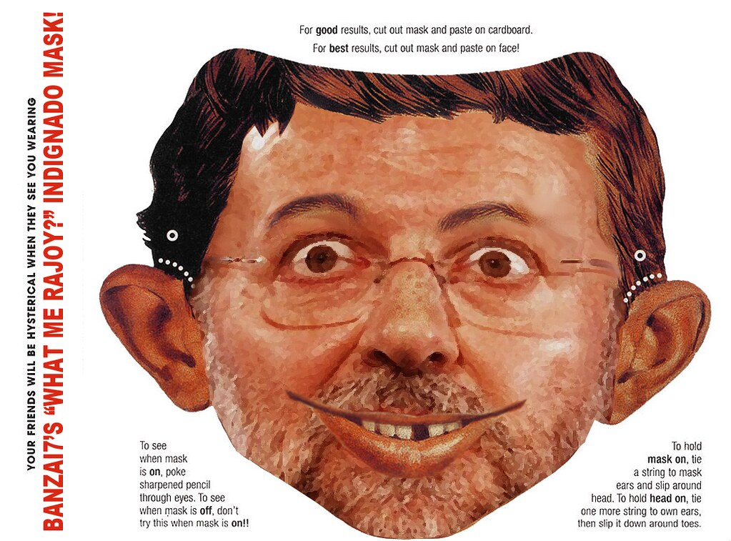 "BANZAI7'S ""WHAT ME RAJOY""? MASK"