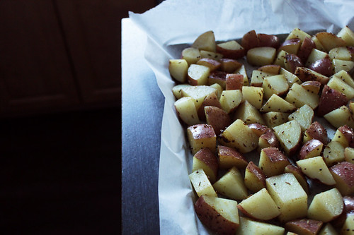 potatoes, spiced & ready to roast