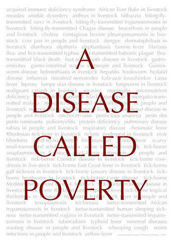 'A Disease Called Poverty', ILRI poster