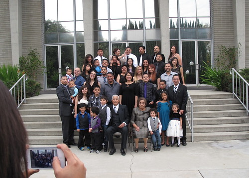 A fraction of José and Antonia's 27 grandchildren and 32 great grandchildren