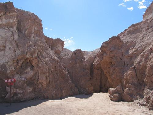 Le désert d'Atacama: la caverne de sel de la Valle de la Luna