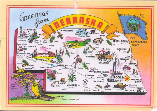 Greetings from Nebraska Mapcard