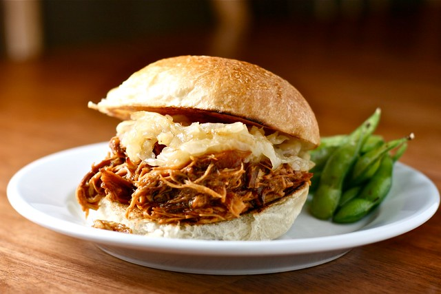 slow cooker pulled bbq chicken