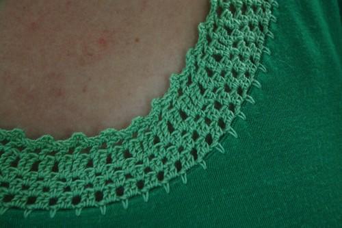 DIY Crochet neckline