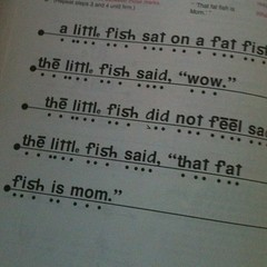 "Great last line . . . ""that fat fish is mom"" - lol"