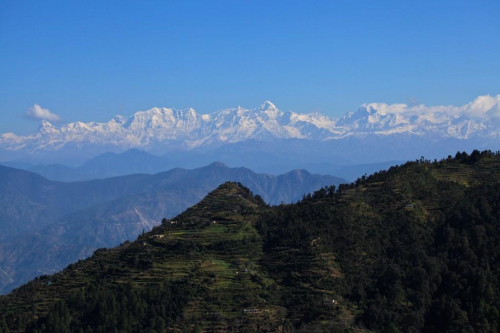 Gangotri Range from Dhanaulti